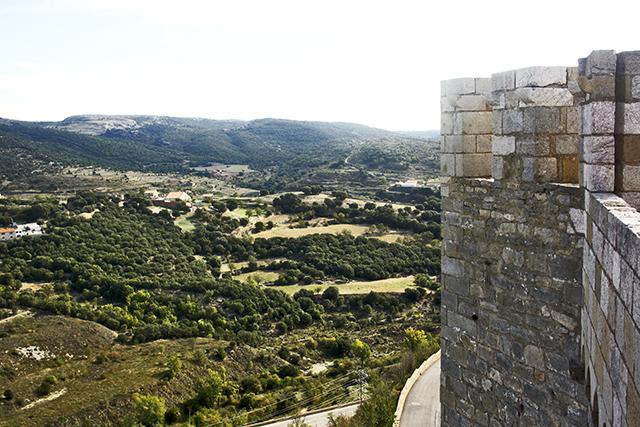 Vistas sierra Maestrazgo torre castillo Morella