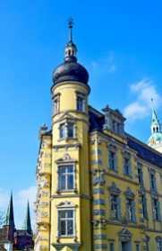 Esquina fachada ventanas decoración Palacio Oldenburg Alemania