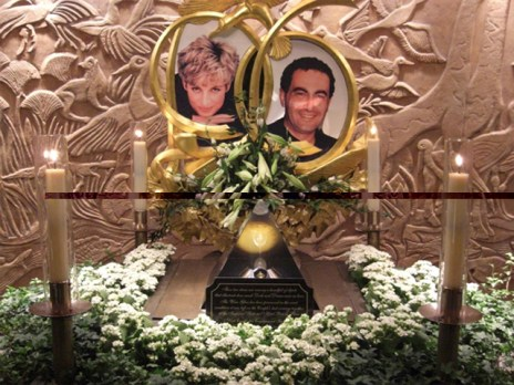 Dodi Al-Fayed Diana de Gales memorial Harrods Londres