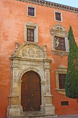 Fachada edificio barroco Plaza Pasiegas Granada