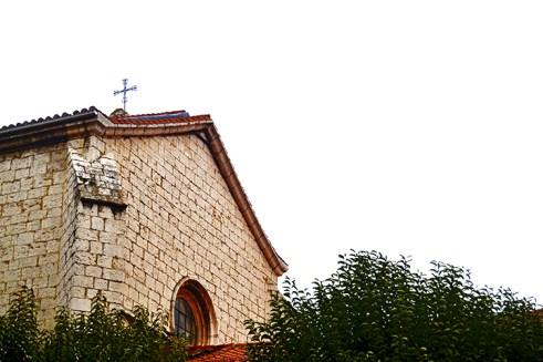 Fachada lateral piedra Museo Valladolid ventana cruz