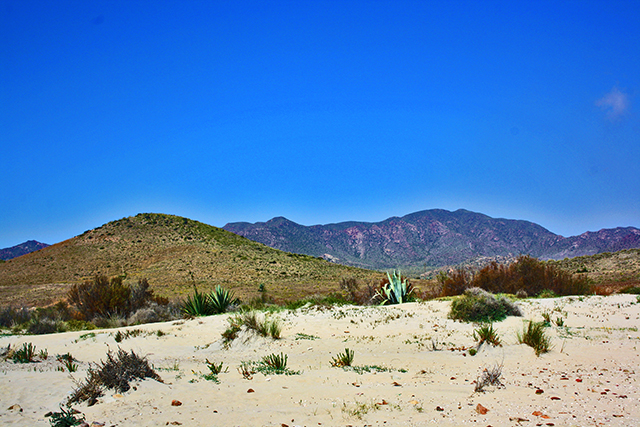 Paisaje oeste desierto dunas playas Cabo de Gata Almería