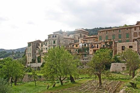 Vistas viviendas centro histórico Valldemossa Mallorca