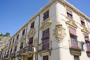 Escudo heraldico en el impresionante Palacio del Marques de Rafal del siglo XVIII