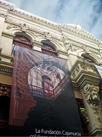 Fachada modernista Casino Murcia calle Trapería
