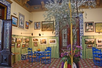 Cuadros Joaquin Agrasot interior sala Casino Orihuela