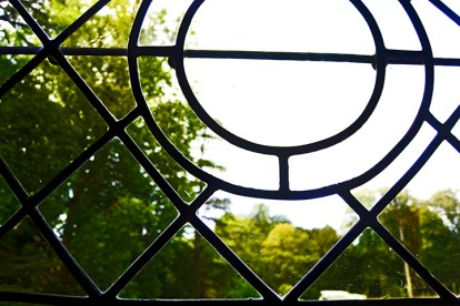 Detalle valla interior ventana castillo Azay-le-Rideau