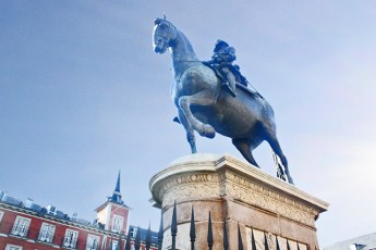 Estatua caballo Felipe III Plaza Mayor Madrid