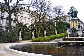 Fuente Condes de Egmont Place du Grand Sablon Bruselas