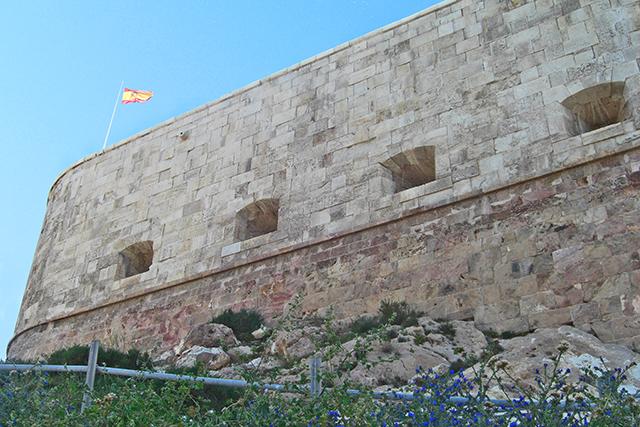 Fuerte Navidad muralla bandera España Cartagena