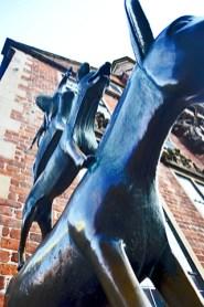Picado músicos Bremen escultura