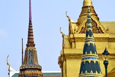 Pagodas y pan de oro Palacio Real Bangkok