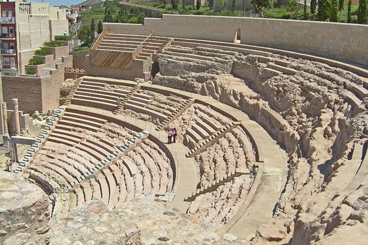 Restos Teatro Romano Cartagena