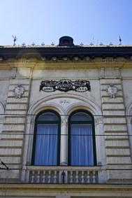 Ventana fachada restaurante Gundel Budapest