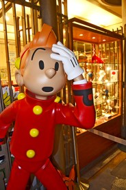 Muñeco Spirou Museo Belga del Cómic Bruselas