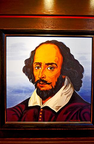 Retrato ilustración William Shakespeare Stratford-Upon-Avon