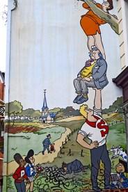 Cómic Historias de la vida urbana fachada Bruselas
