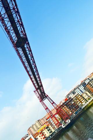 Puente colgante acero Portugalete Bizkaia