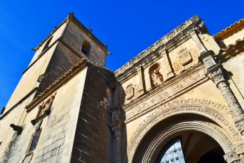 Picado portada Iglesia San Andrés plateresco Baeza