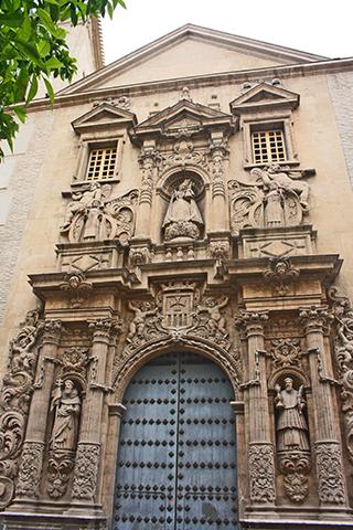 Portada Barroco Iglesia Merced Murcia