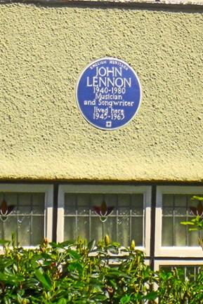 Placa casa natal John Lennon Liverpool