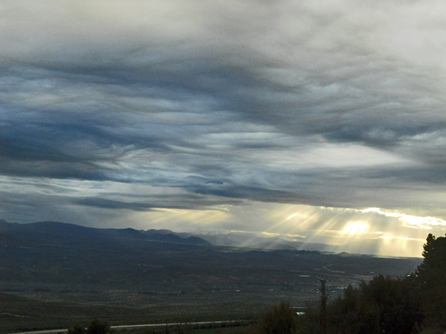 Vistas puesta sol Valle del Guadalquivir Paseo de Antonio Machado Baeza Jaén