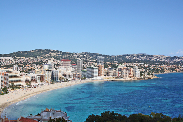 Vistas playa La Fossa Penyal Ifach Calpe