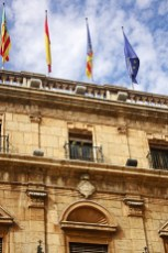 Banderas fachada Palacio Municipal Castellón de la Plana