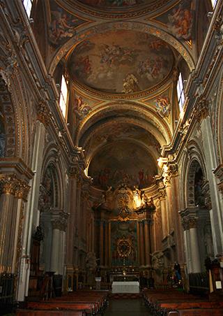 Interior Iglesia Abbaziale di San Salvatore Bolonia