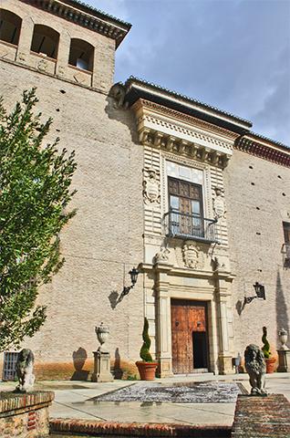 Fachada patio Palacio de los Córdoba Granada