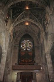 Rosetón gótico interior Catedral Palma Mallorca