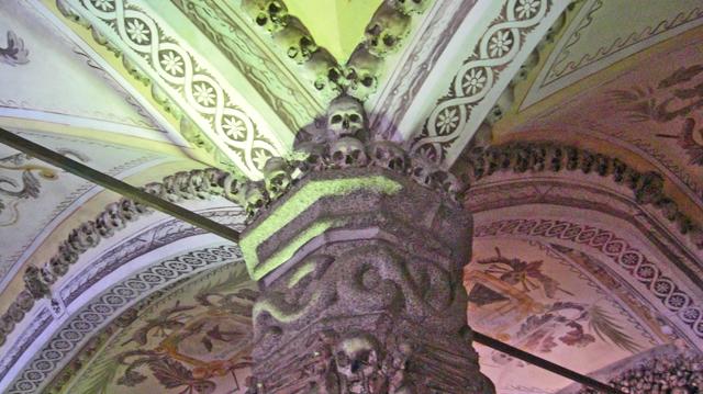 Calaveras Capilla de los Huesos Iglesia de San Francisco Évora Portugal