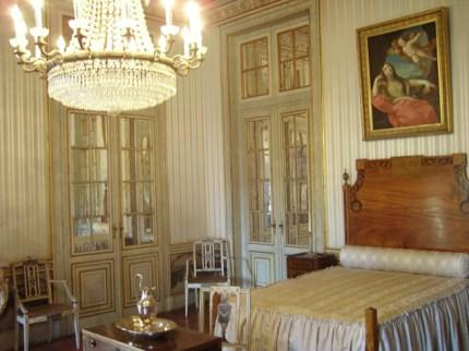 Interior dormitorio Palacio Queluz