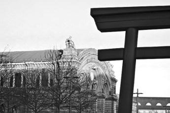 Estación central trenes Ubersee-Museo Bremen blanco y negro