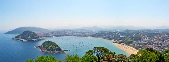 Panorámica bahía La Concha San Sebastián Monte Igueldo Donostia