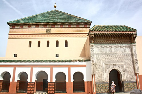 Decoración fachada Sidi Bel Abbes Zaouia mujer marroquí Marrakech