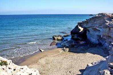 Playa Escullos costas Níjar Cabo de Gata