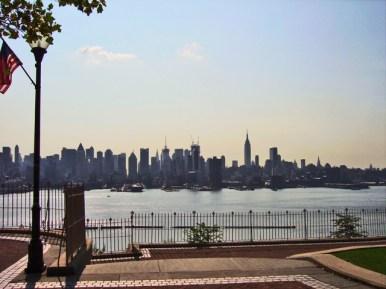 Panorámica skyline Manhattan río Hudson Nueva Jersey