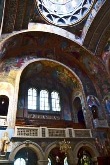 Interior mosaicos Monasterio ortodoxa Bucarest