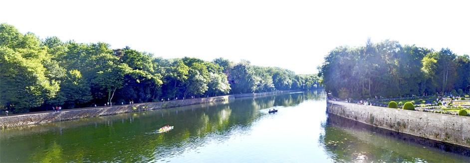 Árboles río Cher Castillo Chenonceau