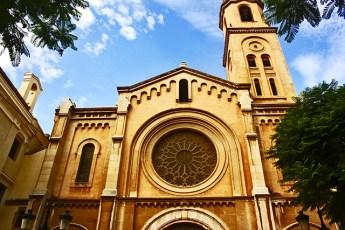 Fachada Parroquia de la Santísima Trinidad en Castellón de la Plana