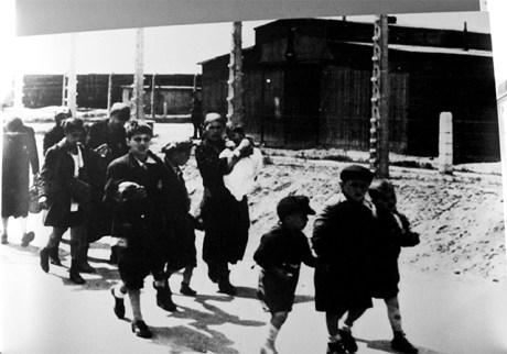 Niños mujeres judíos campo concentración Auschwitz Birkenau Polonia