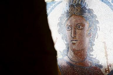 Rostro romano mosaico Museo Arqueológico Tarragona