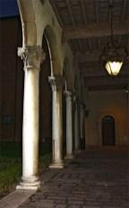 Patio Museo Risorgimento noche Ferrara