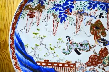 Decoración plato cerámica China Museo Oriental Valladolid