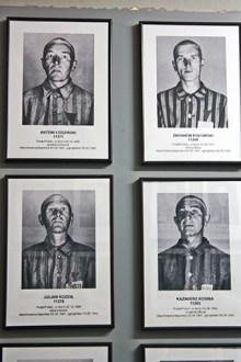 Retratos judíos exterminados trajes campo concentración Auschwitz