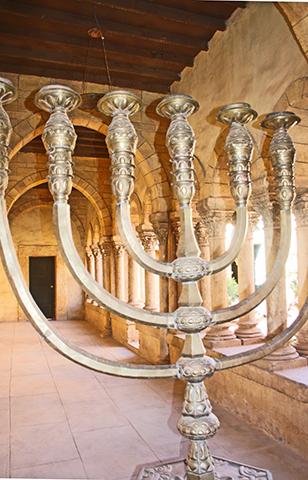 Candelabro judío interior Atlas Studios de Ouarzazate Marruecos