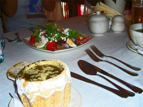 Zurek sopa polaca pan restaurante Michelín Cracovia