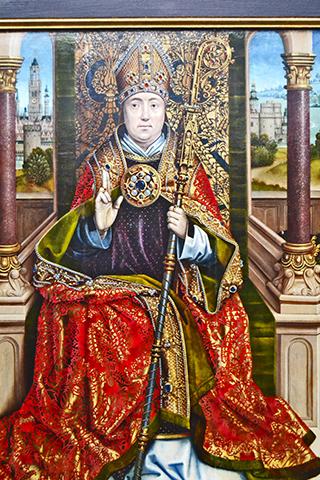 Cuadro obispo Van Eyck Museo Groeninge Brujas