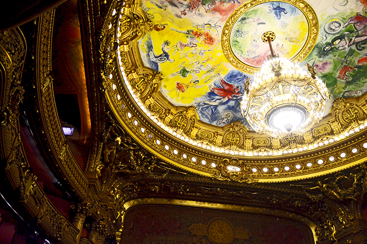 Frescos colores techo interior Ópera Garnier París